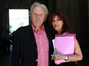 Rutger Hauer and Alessandra Izzo in June 2009