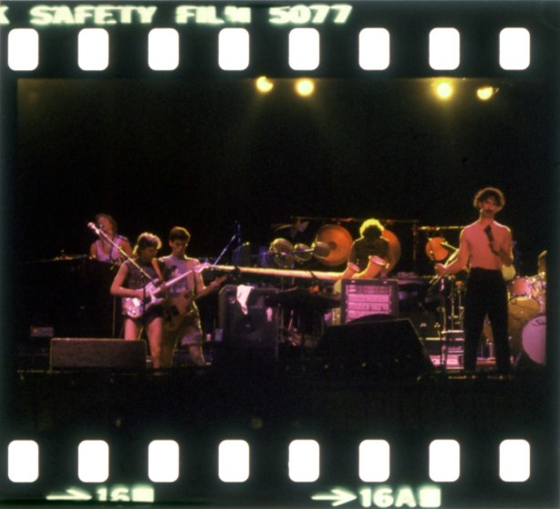 Mattatoio di Testaccio (Testaccio Slaughterhouse), Rome, July 9, 1982, Zappa live, slides by arrivederci.roma1, from the zappateers.com archives